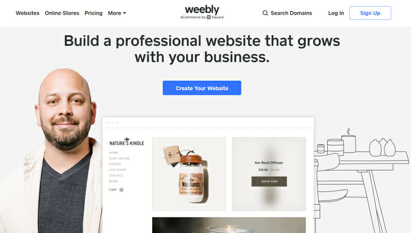 Weebly for bloggers who need an easy website builder for smart looking blogs