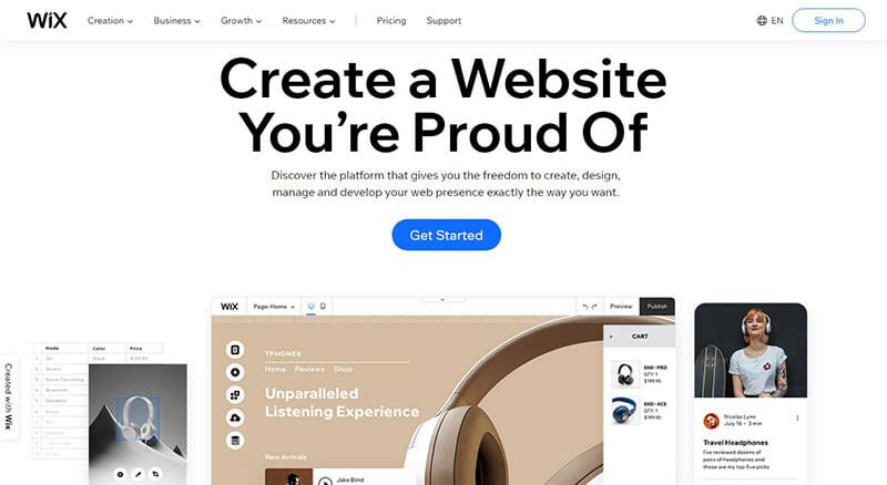 Wix is the best overall website builder.