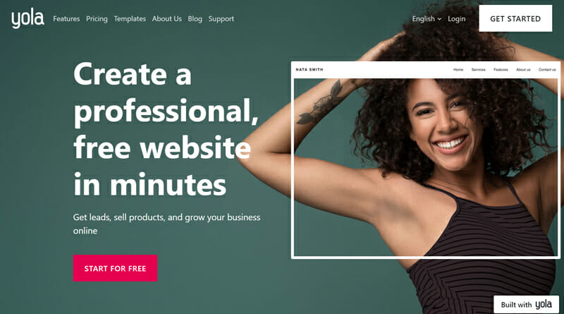Yola Best blogging platform for small businesses that want professional looking blogs