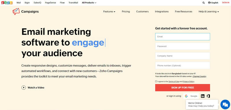 Zoho Campaigns is The Best Email Newsletter Software for eCommerce Email Marketing
