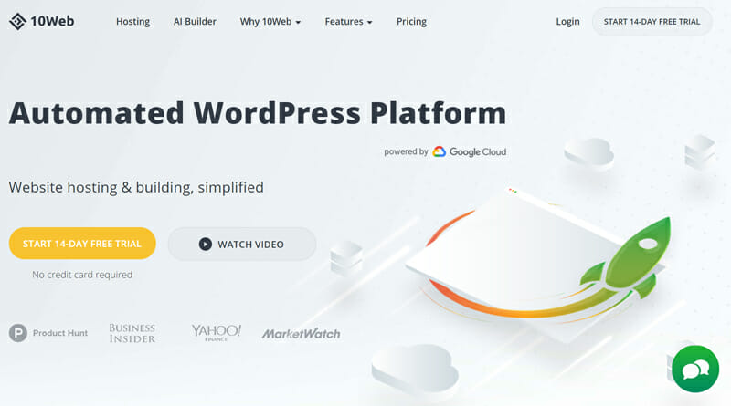 10Web is the best Website Building and Automated WordPress Platform in the Industry