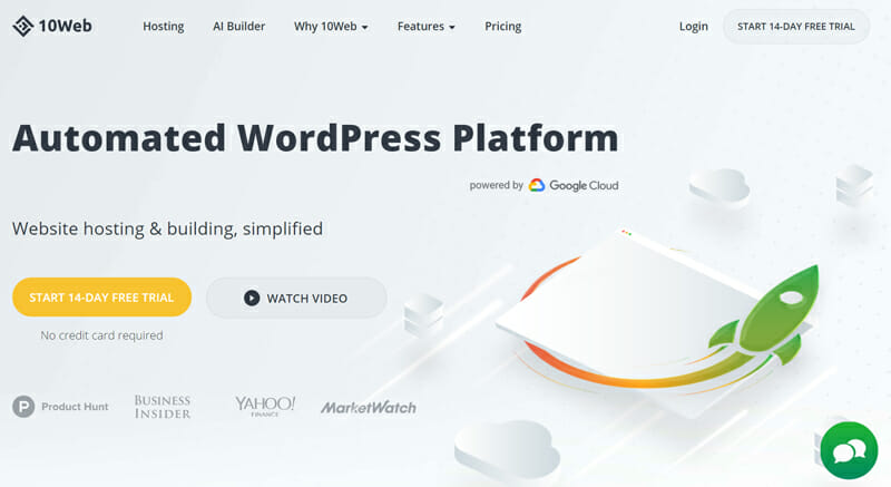 10Web is the best website builder for its AI tool