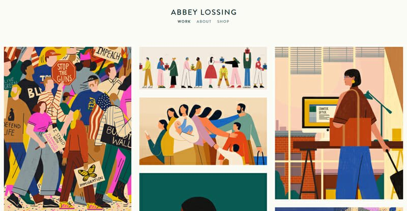 Abbey Lossing is a gorgeous example of an artist website