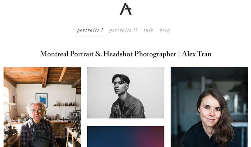Alex Tran is an endearing artist website example