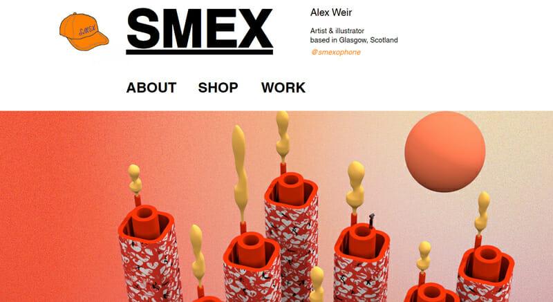 Alex Weir is a great artist website example