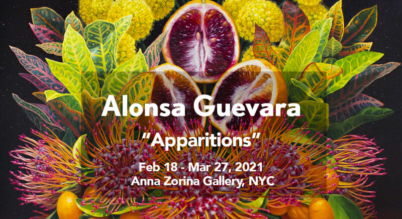 Alonsa Guevara is a vibrant artist website example