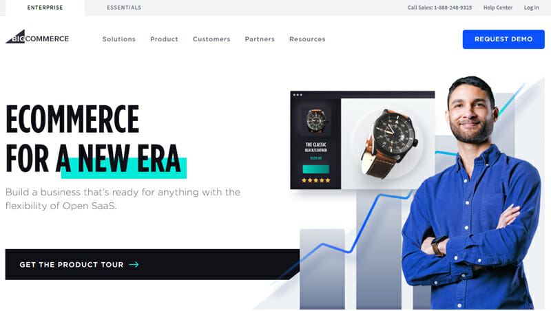 BigCommerce is the best online store builder with a large number of built in tools
