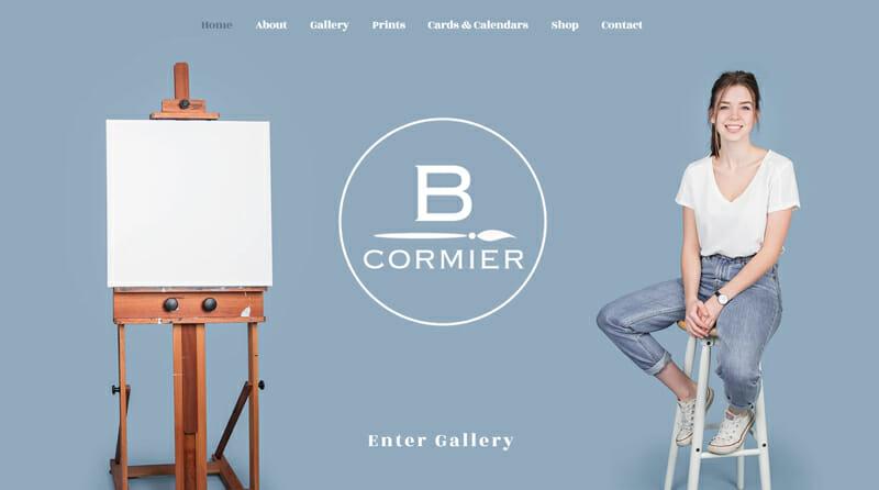 Brooke Cormier is an alluring artist website example