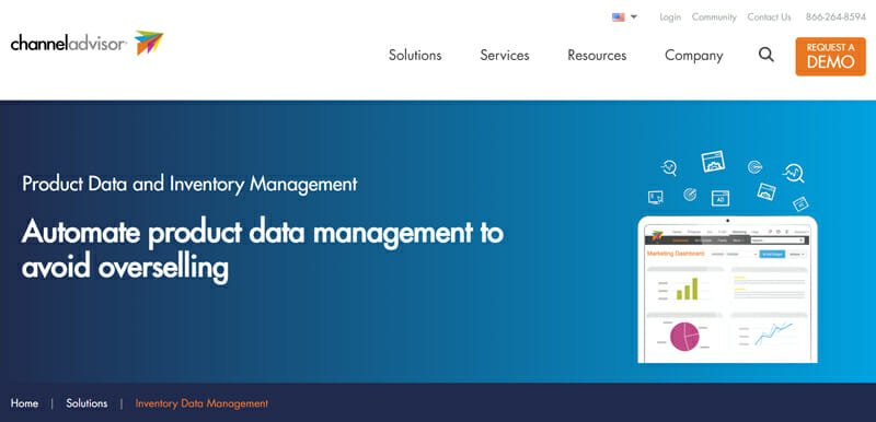 ChannelAdvisor is the best Product Data and Inventory Management Software