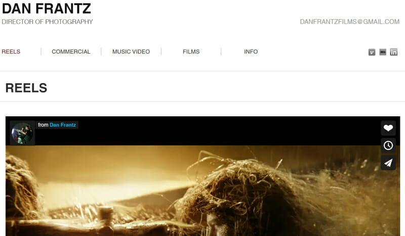 Dan Frantz is a professional artist website example