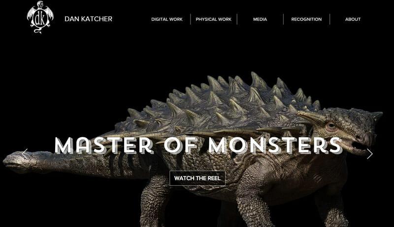 Dan Katcher is an interesting artist website example