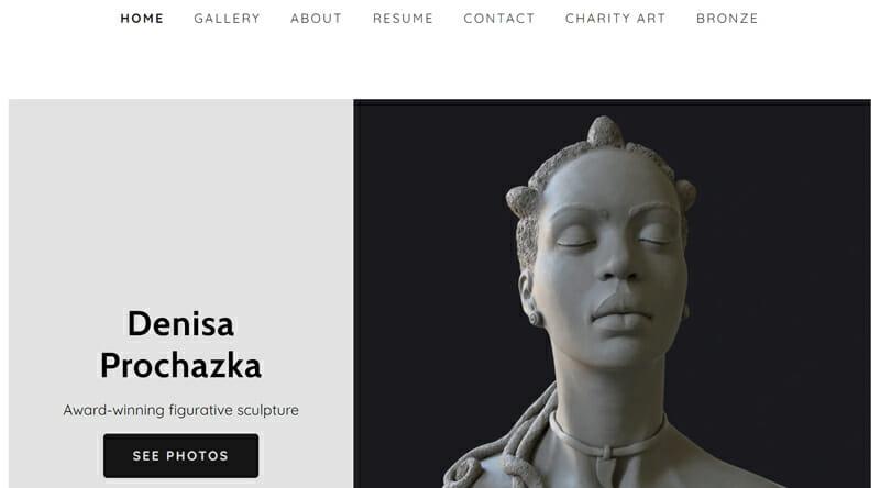 Denisa Prochazka is a stunning example of an artist website