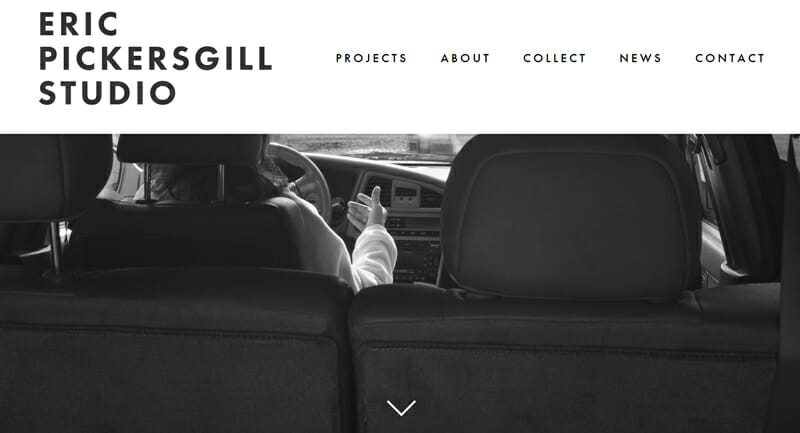 Eric Pickersgill is an incredible artist website example