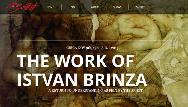 Istvan Brinza is a beautiful artist website example