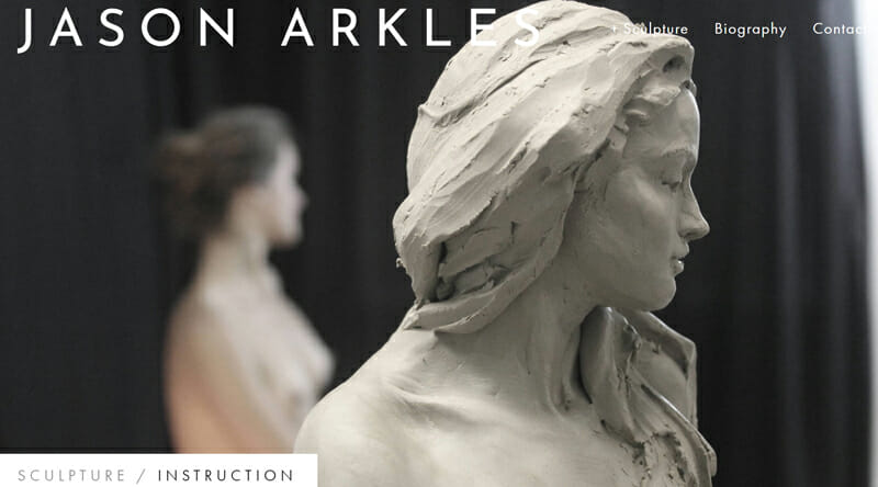 Jason Arkles is an aesthetically pleasing example of an artist website
