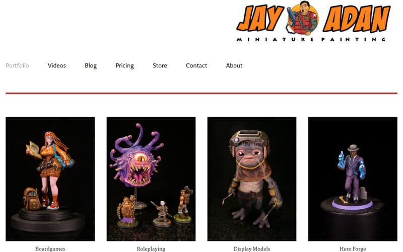 Jay Adan is an engaging artist website example