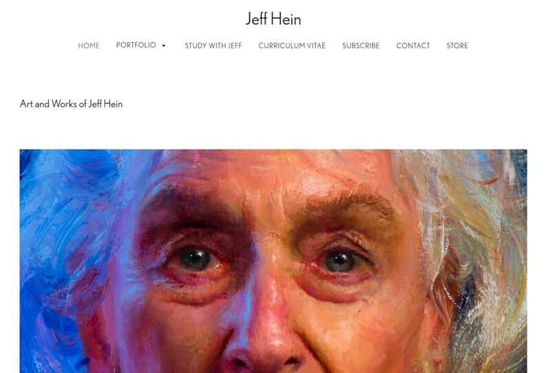 Jeff Hein is an amazing artist website example