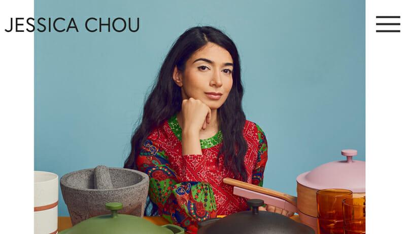 Jessica Chou is a minimalist artist website example