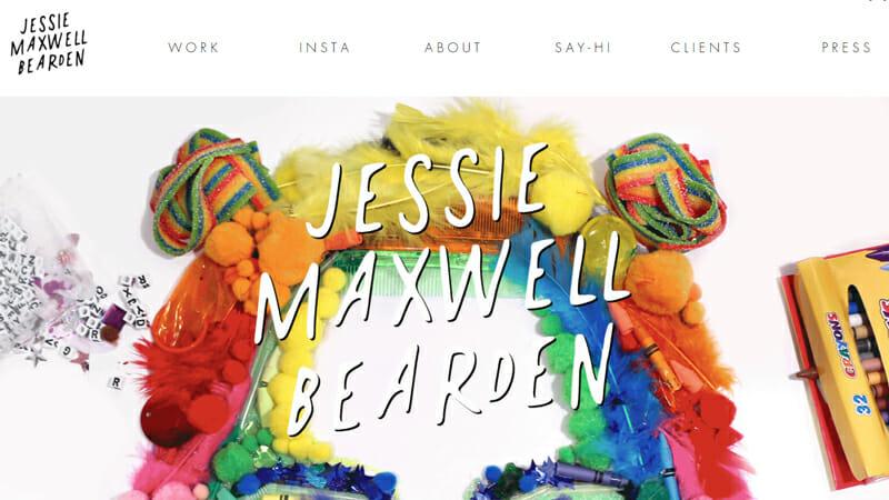Jessie Maxwell Bearden is a lovely artist website example