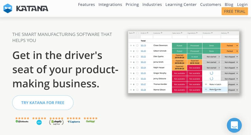 Katana is the best Inventory Management Software for Manufacturers
