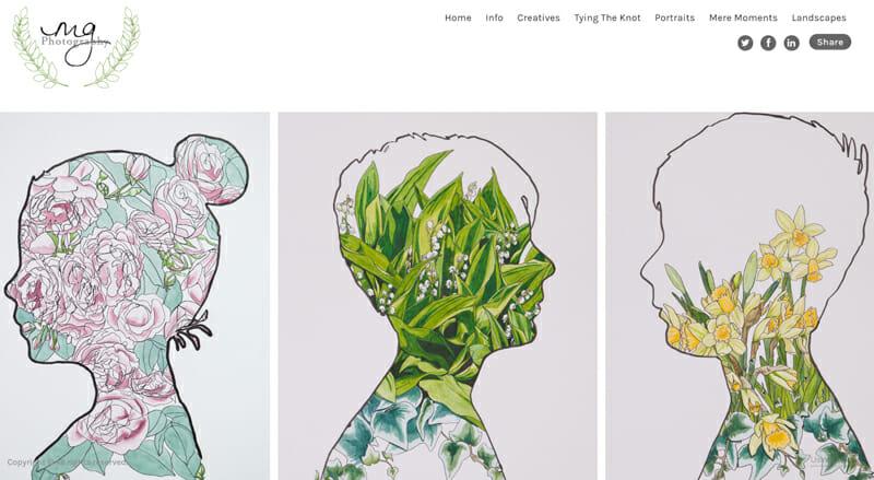 Maegan Guerette is a perfect example of an artist website