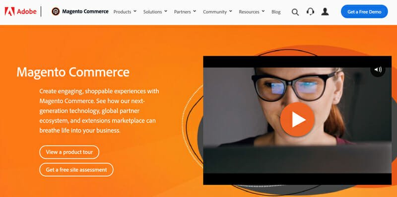Magento is the best online store builder with the most elaborate store building features