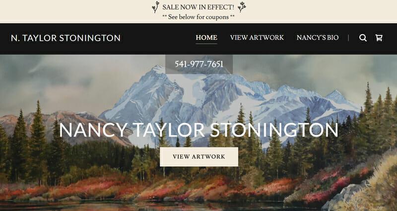 Nancy Taylor Stonington is a wonderful example of an artist website