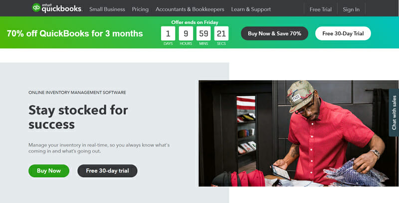 QuickBooks is the best Inventory Management Software for Small BusinessesInventory Management