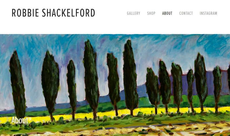 Robbie Shackelford  is a charming artist website example