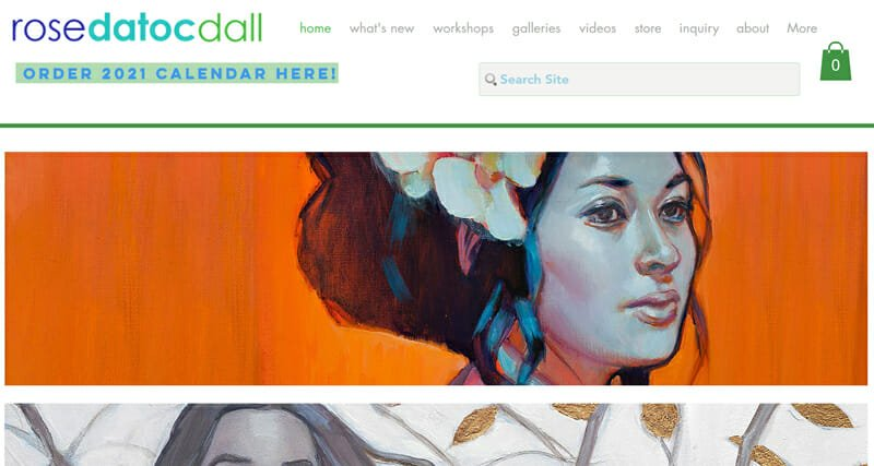 Rose Datoc Dall is a gorgeous artist website example