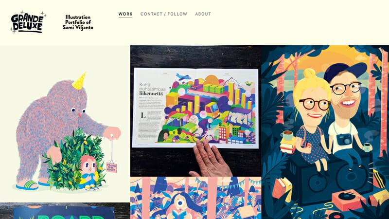 Sami Viljanto is a fun and engaging example of an artist website