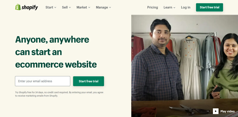 Shopify is a website builder for business owners who looking for the best hosted solution
