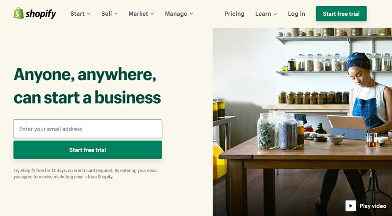 Shopify is the best all round and Beginner Friendly Ecommerce Site Builder