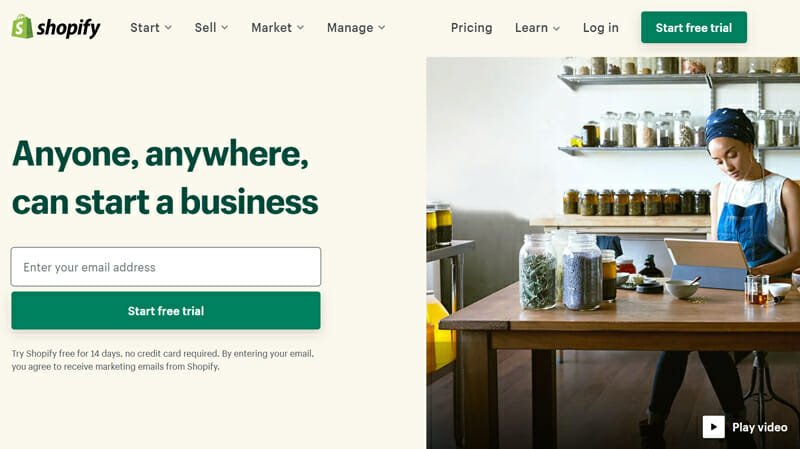 Shopify is the best eCommerce Website Builder in the Industry