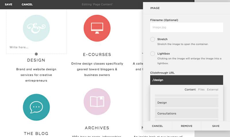 Squarespace templates customization