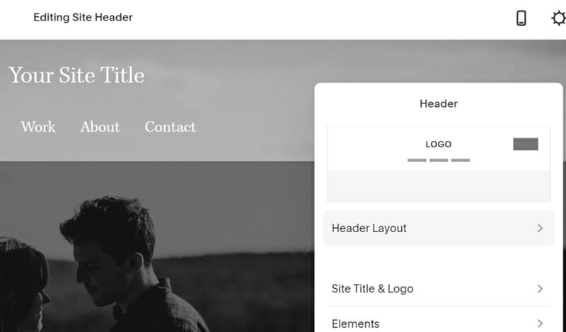 Squarespace's CMS comes  in form of a drop down menu with a variety of administrator page options