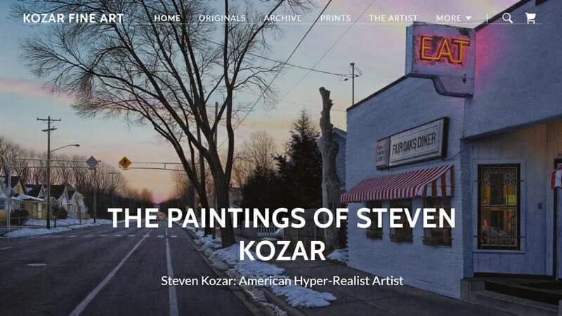 Steven Kozar is an exquisite artist website example