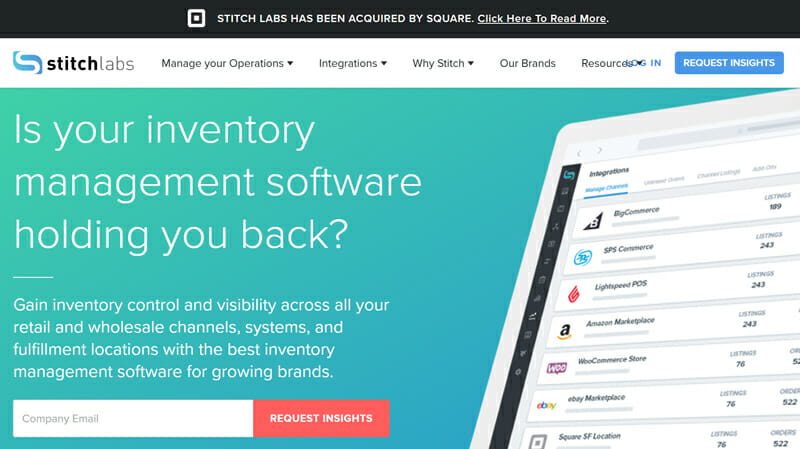 Stitch Labs is the best Inventory Management Software with Multiple Integrations