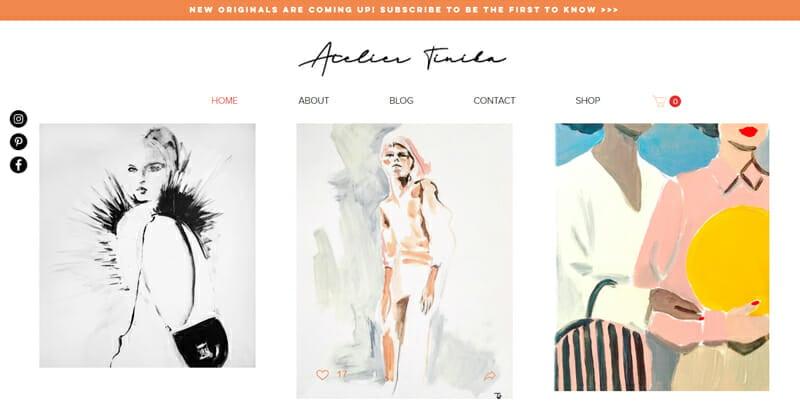 Tinika is an innovative example of an artist website