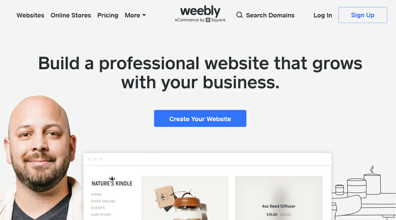 Weebly is the best all in one eCommerce store builder for users looking for high functionality
