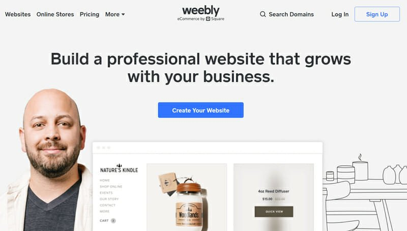 Weebly is the best website builder for eCommerce