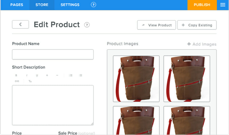 Weebly's ecommerce features