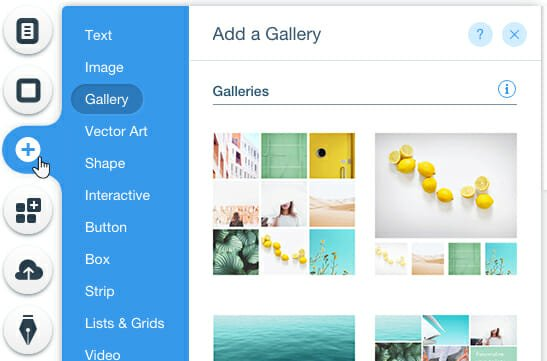 Wix Adding Elements Feature