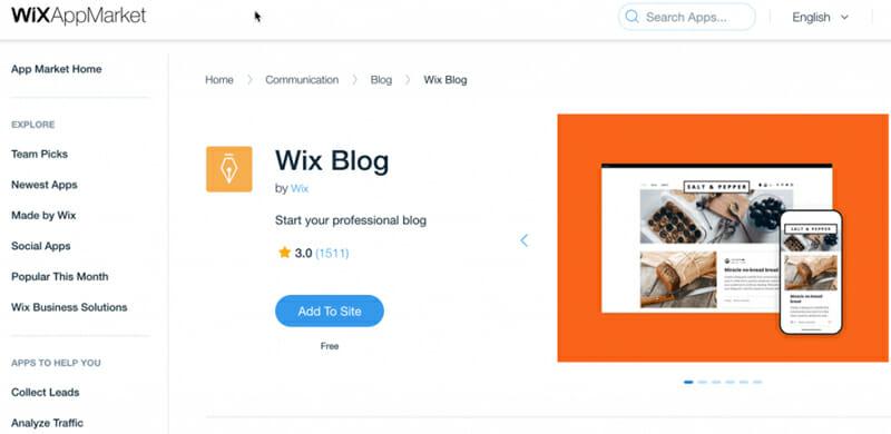 Wix Blog app