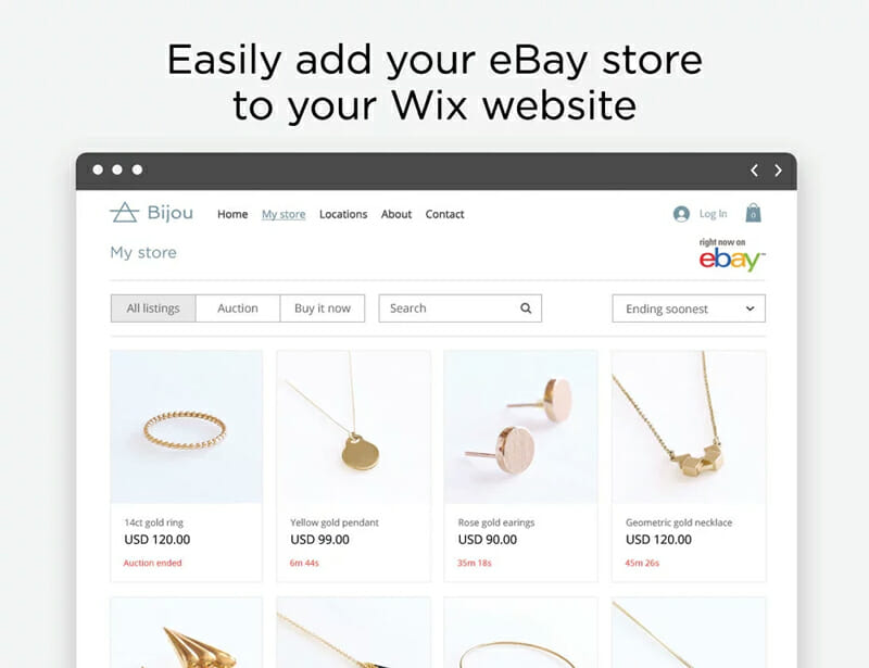 Wix integration with eBay