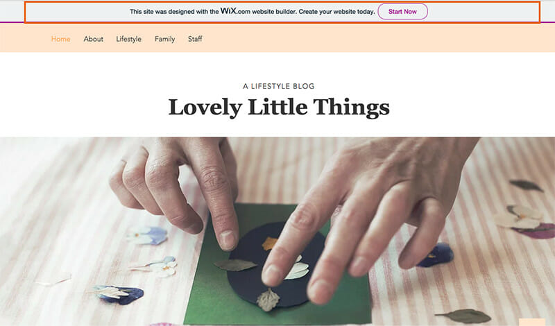 Wix offers a stunning website for free