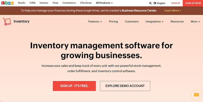 Zoho Inventory is the best Inventory Management Software for Growing Businesses