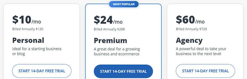 10Web Pricing Plan