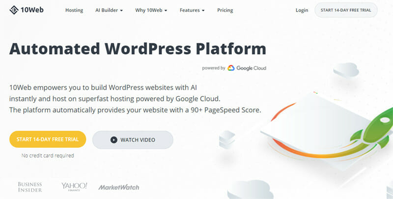 10Web is a WordPress Platform that Uses the Power of Automation for Website Building and Hosting