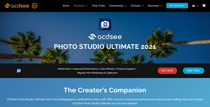ACDSee Photo Studio makes Extensive use of AI powered facial recognition tools